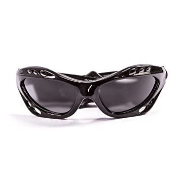 Ocean Sunglasses Cumbuco - Gafas de Sol polarizadas - Montura : Negro Brillante - Lentes : Ahumadas (15000.1)
