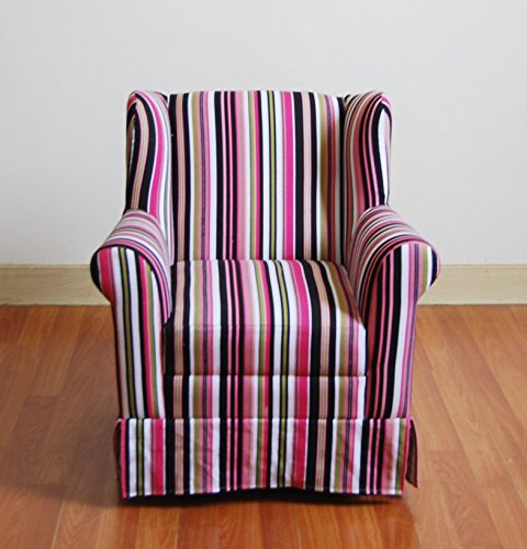4D Concepts Girls Striped Wingback Chair by 4D Concepts