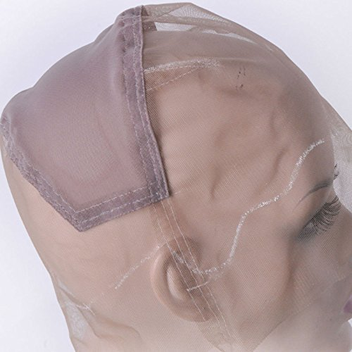 Ladybeauty Full Lace Wig Cap for Making Wigs Swiss Lace Hair Net Brown Color for Wig Making by Ladybeauty (Image #4)