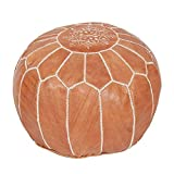 Moroccan Poufs Leather Luxury Ottomans Footstools