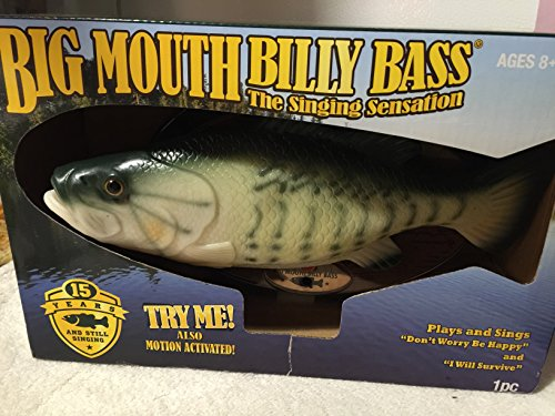 Gemmy Inflateables Holiday (G08 47957) Big Mouth Billy Bass, Green (Big Mouth Bass)