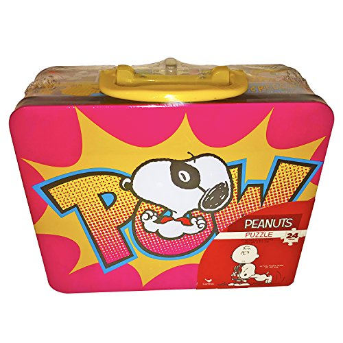 Peanuts Collectors Tin Lunch Box! With 24 Piece Puzzle Inside! Featuring Everyone's Favorite Beagle! ()