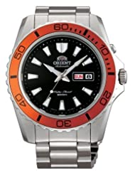 Orient FEM75004B Men's Mako XL Stainless Steel Orange Bezel Black Dial Automatic Dive Watch