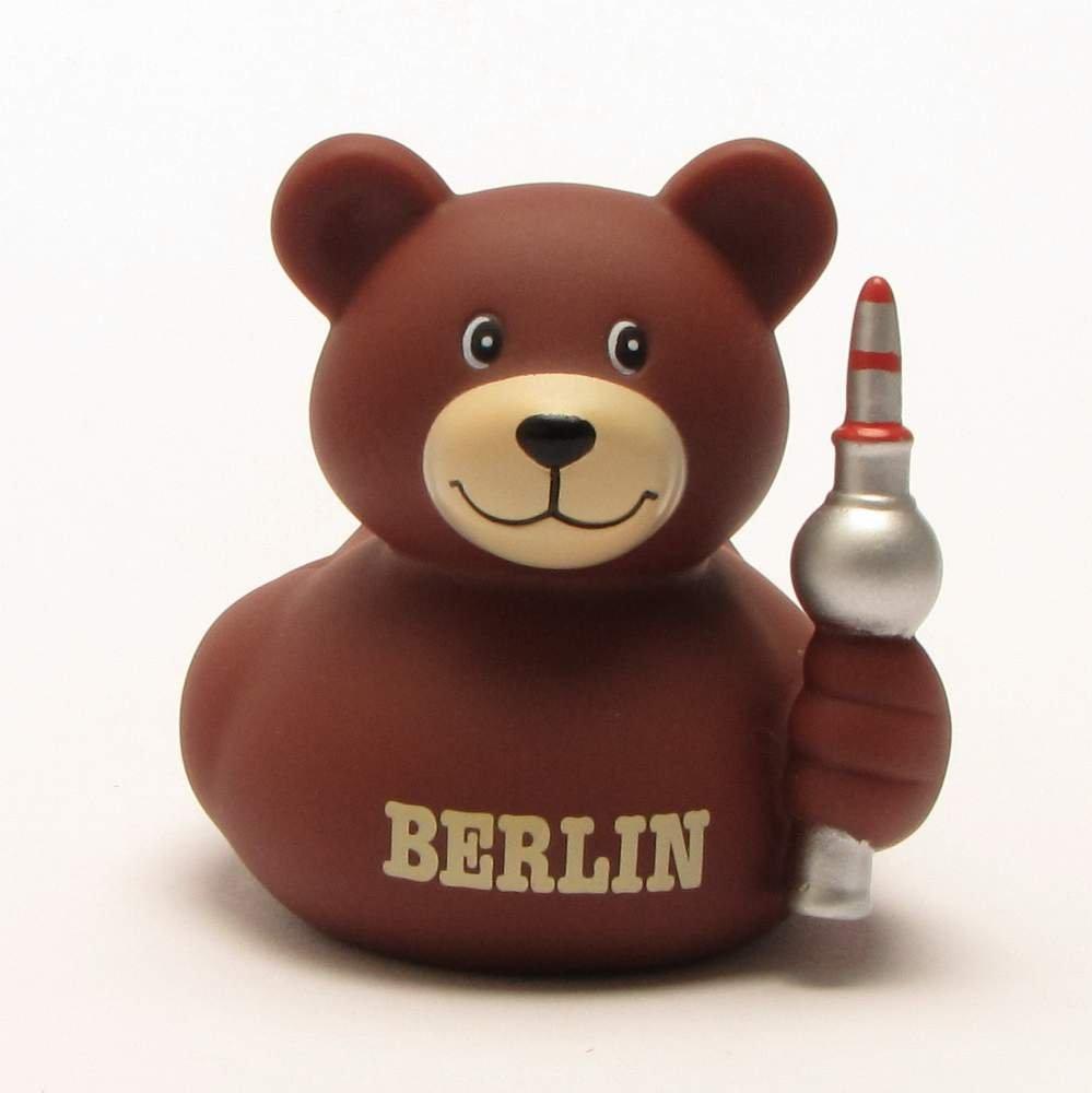 Amazon.com : Berlin Bear Rubber Duck | Bath Duck | Duckshop | L: 8 ...