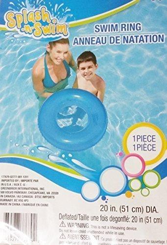 Splash-n-Swim Inflatable Swim Ring, 20 in Diameter, Age: 4 and up 2 - International Inc Swims