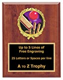Cricket Plaque Awards 6x8 Wood Sports Trophy Tournament Trophies Free Engraving