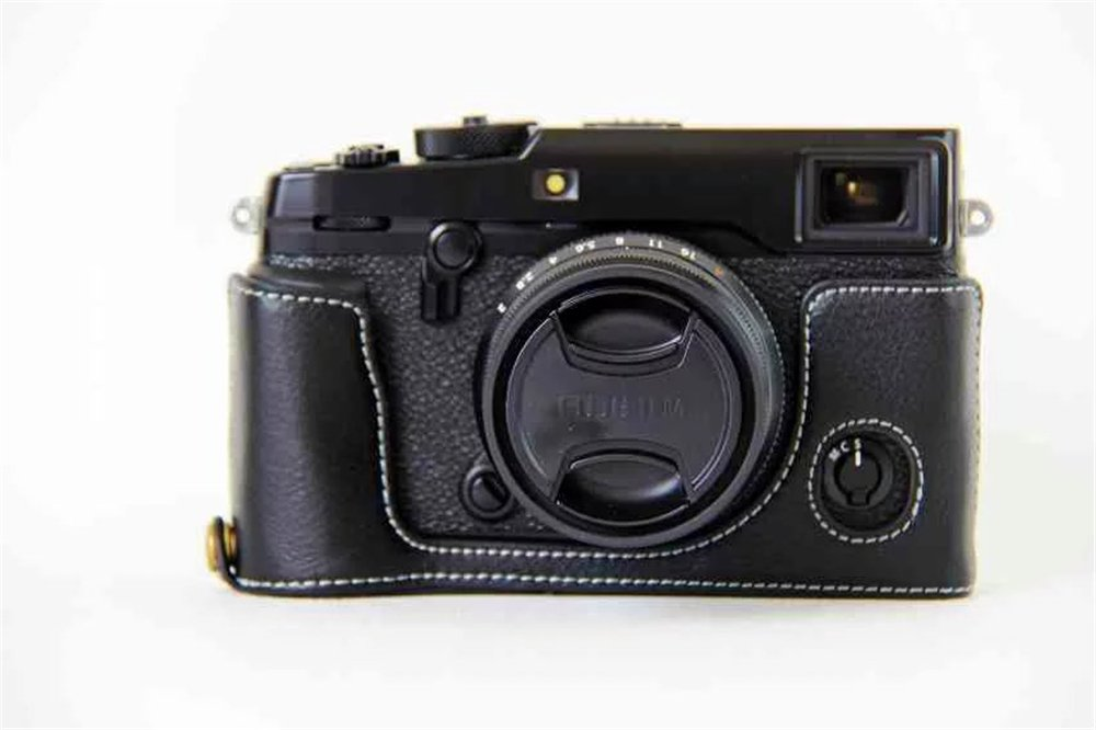 Zakao genuino cuero aut/éntico media apertura inferior versi/ón funda para c/ámara con correa de hombro mini bolsa protectora funda funda para Fujifilm Fuji X-Pro2 XPro2 X-Pro 2 X-Pro2 Funda para c/ámara