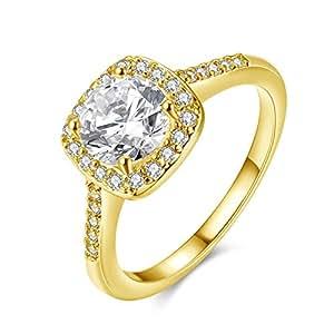 Amazon.com: Eternal Love Women's 18K Rose/White Gold ...