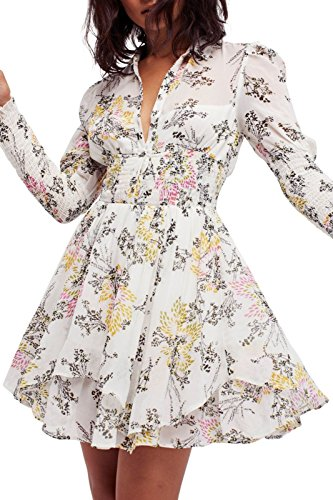 Free People Baby Doll (Free People Fake Pretend Babydoll Floral Dress (L))