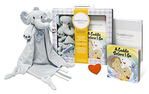 CuddleBright Experience Elephant Lovie Kit, Includes Securit