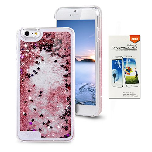 iPhone 6S Case OuDu Bling Glitter Case TPU Silicone Cover Sparkle Style Shell iPhone 6 Cover Flexible Soft Bumper (Gift:1 Screen Protector) - Shining Powder (Supple Powder)