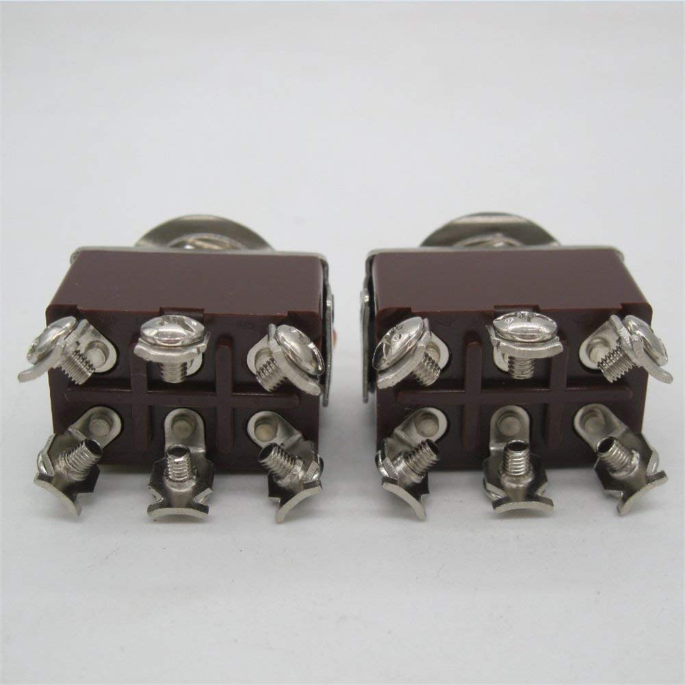 ON -Off- 2pcs Waterproof Cap ( 2 Years Warranty) ten-223 Toggle Switches ON Taiss // 2pcs Momentary Switch Toggle Rocker Heavy Duty 20A 125V DPDT 3 Position 6 Terminal