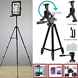 ChargerCity XL Smartphone & Tablet Holder Photo Booth Camera Tripod Kit w/360° Rotation for Apple iPad Pro Air Mini iPhone XR XS MAX X 8 7 Plus Microsoft Surface Samsung Galaxy Tab S8 S9 Note