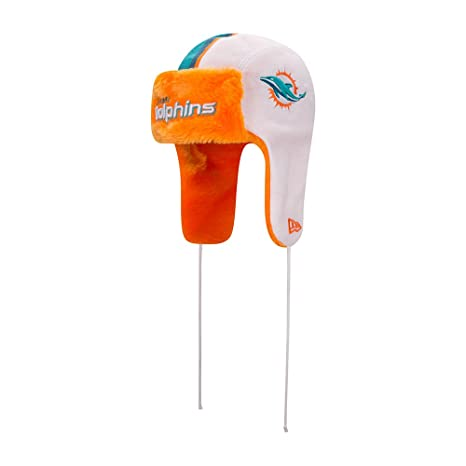 94cfba78c1b17 Image Unavailable. Image not available for. Color  New Era Miami Dolphins Helmet  Head Knit Trapper ...