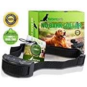 Amazon Lightning Deal 85% claimed: ONE DAY SALE No Bark Collar By Naturepets - No Harm Shock Dog Control - 7 Sensitivity Adjustable Levels for Medium Large or Small Dogs 15-120 Pound Dogs - 2 Gifts Include