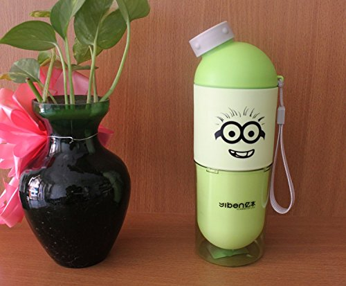 GeekGoodies M School Travel Water Bottle with Drinking Glass   Green