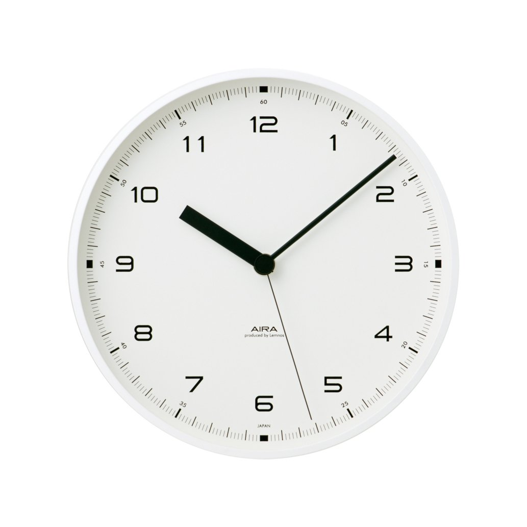 Lemnos Urban clock ホワイト LC10-03 WH B003DZ7HPKホワイト