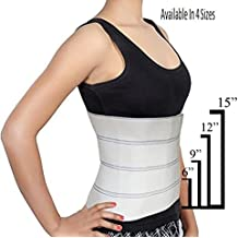 "Abdominal Binder Waist Trainer, Waist Trimmer, Support Post-Operative, Post Pregnancy And Abdominal Injuries. Post-Surgical Abdominal Binder Comfort Belly Binder (Small (30"" - 45""), 12"" High)"