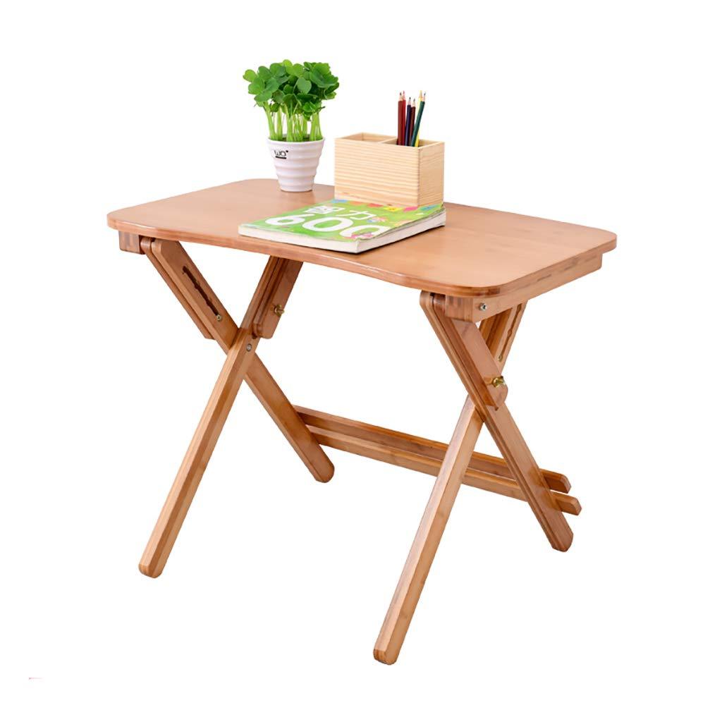 A-Fort Table Scrivania per Bambini in bambù può Essere Alzata e abbassata Tavolo da Studio Tavolo Pieghevole Tavolo da Scuola Piccola scrivania (Dimensioni   50cm80cm)