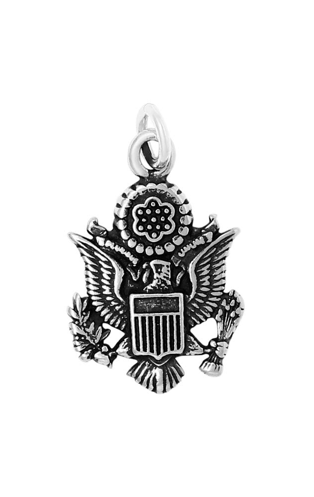 Raposa Elegance Sterling Silver Official US Seal Charm (approximately 16 mm x 13 mm)
