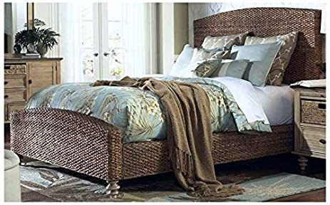 Amazon Com Chelsea Home Panel Bed In Sea Grass Finish King 88 In L