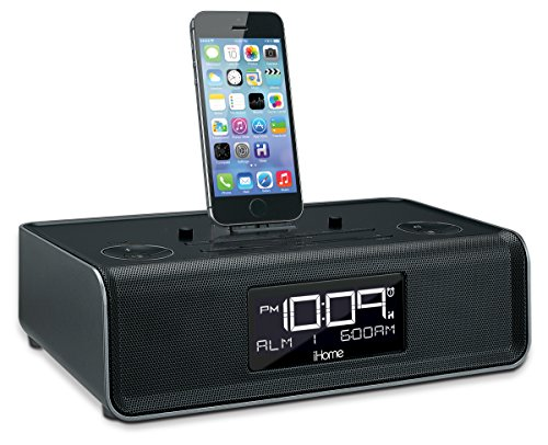 iHome iDL43B Dual Charging Stereo FM Clock Radio with Lightn