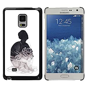 Caucho caso de Shell duro de la cubierta de accesorios de protección BY RAYDREAMMM - Samsung Galaxy Mega 5.8 - Cableado