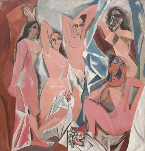 'Les Demoiselles d'Avignon, c.1907' oil painting, 18x19 inch / 46x47 cm ,printed on high quality polyster Canvas ,this High Resolution Art Decorative Prints on Canvas is perfectly suitalbe for Kitchen artwork and Home decoration and Gifts