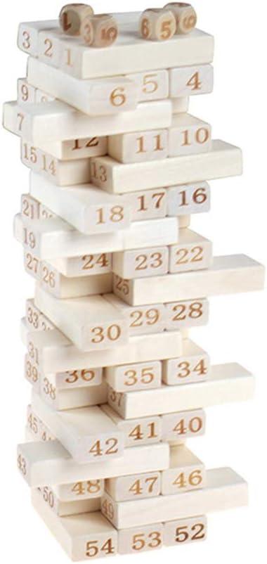 Toyvian 54 piezas Balance Jenga bloques de madera Torre Madera Bloque Stacking Puzzle desarrollo juguetes Set: Amazon.es: Bebé