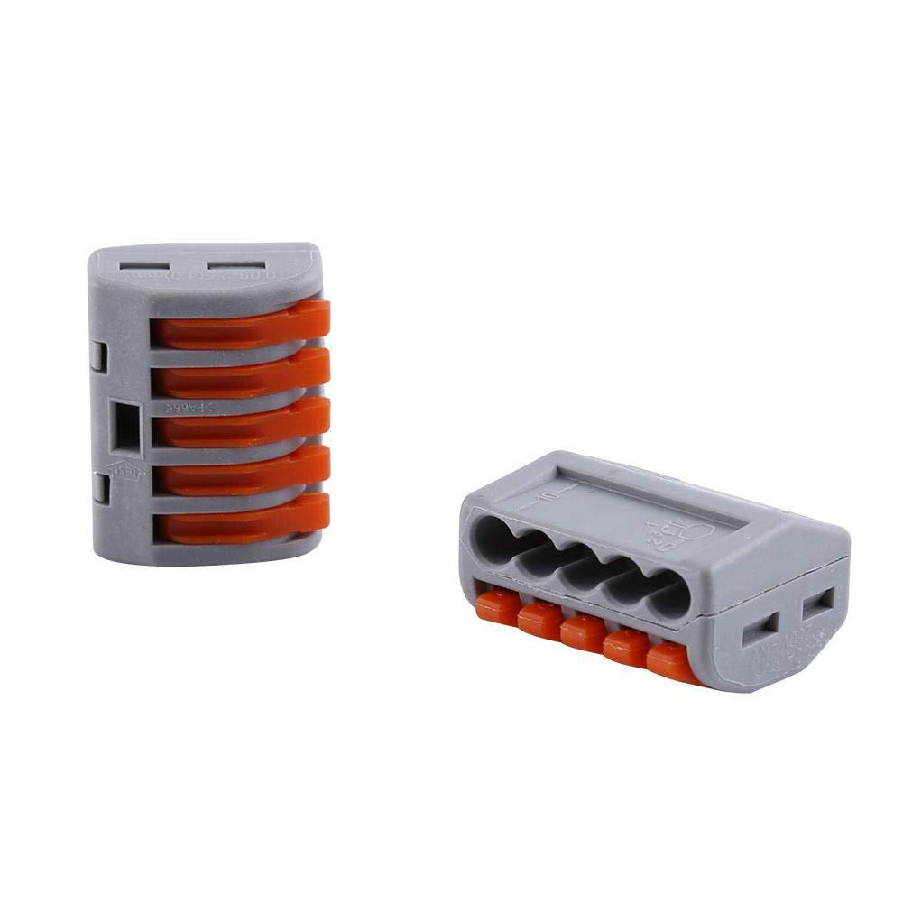connecteur de c/âble /électrique 20pcs 2//3//5 mani/ère r/éutilisable Bornier connecteur de c/âble