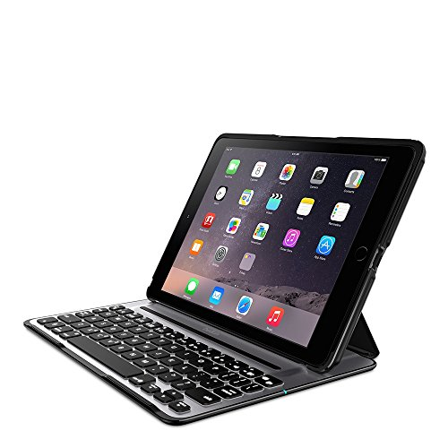 Belkin QODE Ultimate Pro Keyboard Case for iPad Air 2 (Panel is black and the back case is grayish -