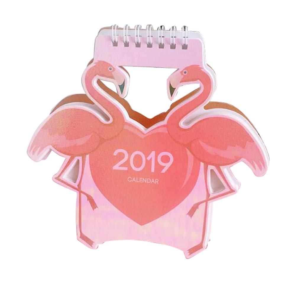 ミニ 2019 カートゥーン スタイル デスクカレンダー デスクパッド オフィスカレンダー B04   B07H3QYJDV