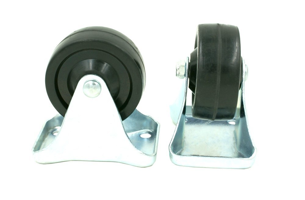 """- SHIPS TODAY! 12 Pack 3/"""" Caster Wheels Rubber Plate Straight Movement"""