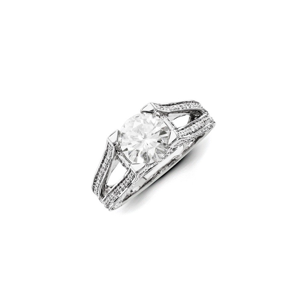 Top 10 Jewelry Gift 14ky White Gold Diamond/Moissanite Engagement Ring