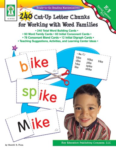 240 Cut-Up Letter Chunks for Working with Word Families, Grades K - 3 (Teaching Chunks Of Languages)