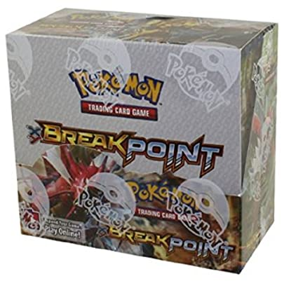 3f28ffb5ca159 Amazon.com: Pokemon XY BREAKpoint Booster Box TCG Card Game New Sealed 36  packs: Toys & Games