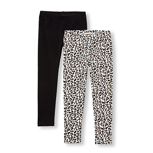 The Children's Place Big Girls' 2 Pack Legging, Tumbleweed, L (10/12) by The Children's Place (Image #1)'
