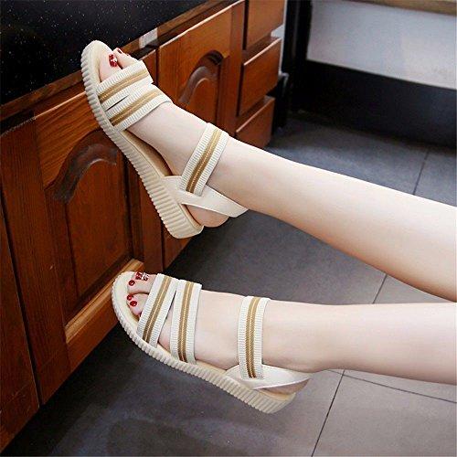 con Blanco BTBTAV Código Code 36 Una Verano 40 Antideslizante Europeo Piscina White European Cool Zapatillas Plana Base RRSUqt7wx
