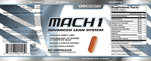 G6 Sports Nutrition Mach 1 Advanced Lean System (Patented Ingredients, Target Fat Cells, No Crash or Jitters) – 60 Capsules by G.Sports (Image #3)