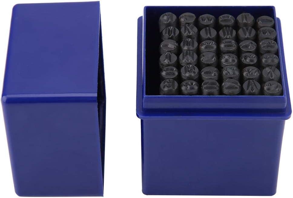 Lot de 36 matrices de d/écoupe en acier de 5 mm avec lettres de lalphabet et et chiffres.