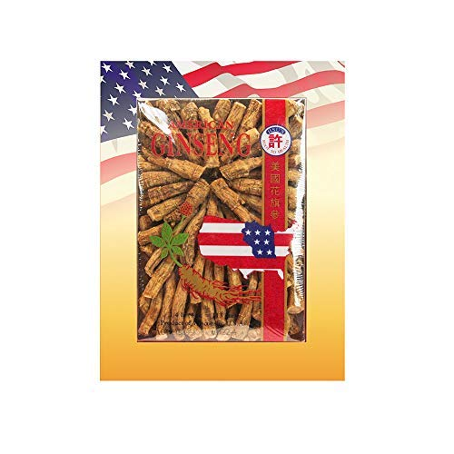 Hsu's Ginseng SKU 122-4 | Medium Prong | Cultivated American Ginseng from Marathon County, Wisconsin USA | 許氏花旗參 | 4oz box of Wisconsin Ginseng Roots, B00C830FA2