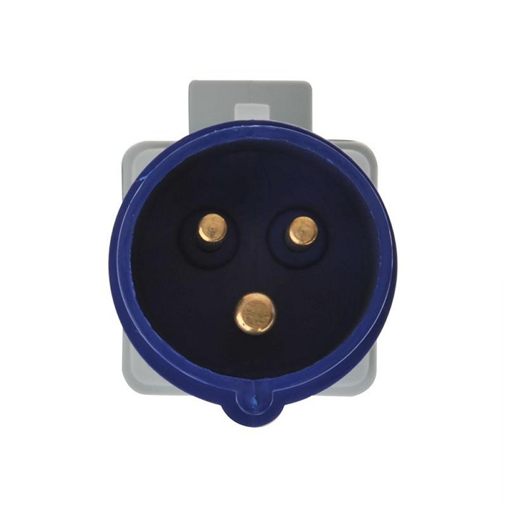 ProPlus 373519 Adaptador de acoplamiento de clavija IEC industrial macho a toma de corriente schuko hembra