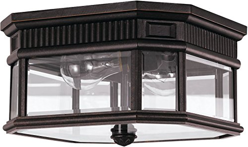 Feiss OL5413GBZ Outdoor Flush Mount, Incandescent, Grecian -
