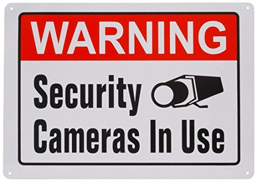 1Pcs Aluminum Metal Sign Warning Video Surveillance Security Cameras In Use