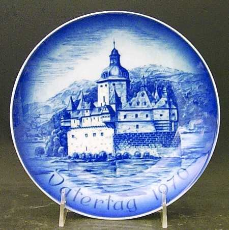 Father's Day Plate 1969 -- Bareuther-- Bavarian Porcelain -- Castle Pfaltz