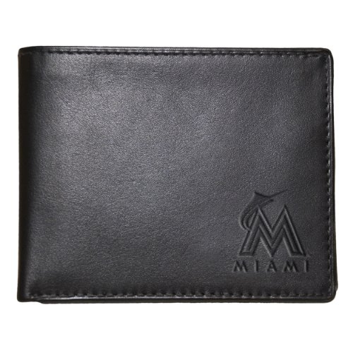 Pangea MLB Miami Marlins Black Leather Wallet by Pangea Brands