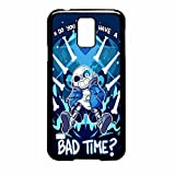 Undertale Sans Do You Wanna Have A Bad Time Case / Color Black Rubber / Device Samsung Galaxy S5