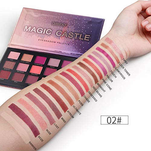 LiPing Professional 18 Palette Shimmer Eye Shadow Dust Powder Flash Party Cosmetic/Magic Finish to Apply and Grace Your Face Eye Shadow Pigment for Women (B)]()