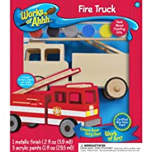 MasterPieces Works of Ahhh Fire Truck Wood Paint Kit
