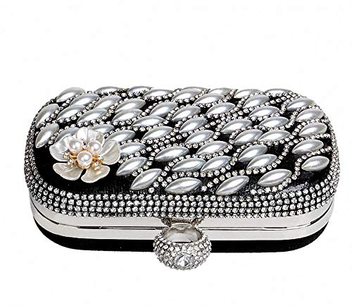 amp;america Clutch Europe Pearl Handbag Bag Wedding Red Party Evening Flower Ladies qp10I